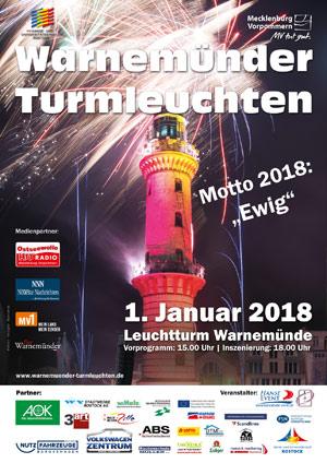 Warnemünder Turmleuchten - Plakatmotiv 2018