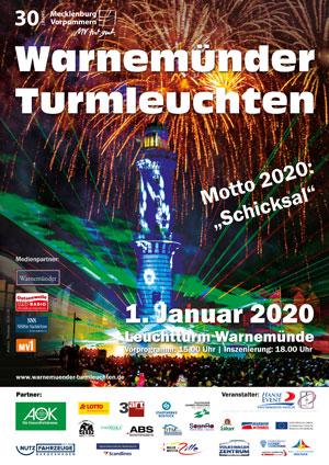 Warnemünder Turmleuchten - Plakatmotiv 2020
